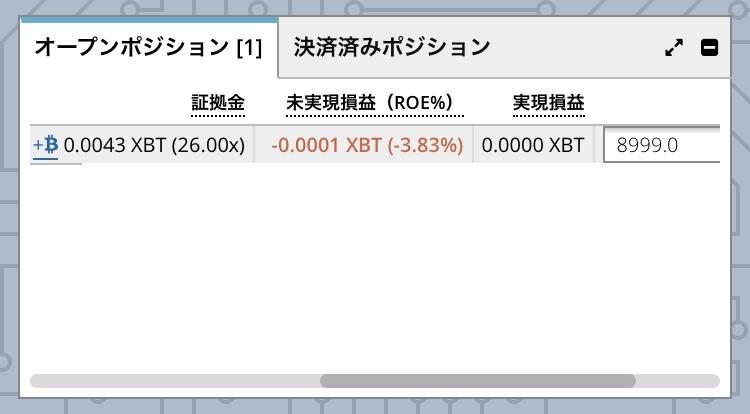 bitmexオープンポジション2