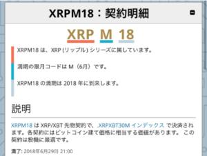 bitmexのXRPリップルfx説明画面