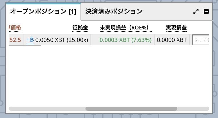 bitmexオープンポジション3
