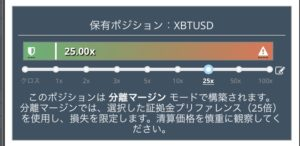 bitmex分離マージン