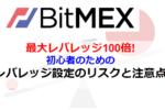 【図解ピヨ】BitMEXレバレッジのメリット・デメリット 途中変更