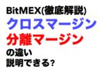 【図解ピヨ】BitMEX(ビットメックス)レバレッジについて、クロスマージン・分離マージンとは